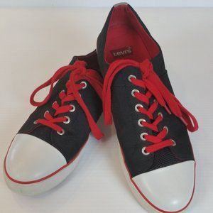 Levi's Stan Black/Red/White Canvas Sneakers 12